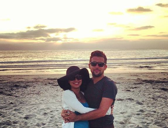 [My wife and I at La Jolla Shores]